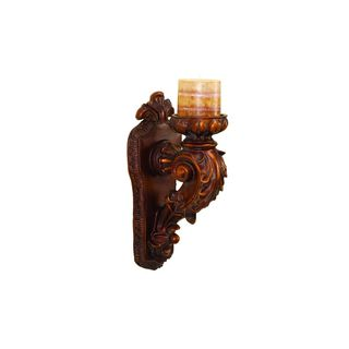 Brown Resin 13-inch Sconce