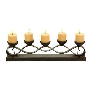 Metal Candelabra (26 inches W x 7 inches H)