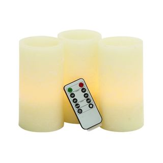 LED Flameless Candles With Remote (Set of 3)