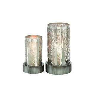 Metal 8-inch and 11-inch Hurricane Candle Holder (Set of 2)