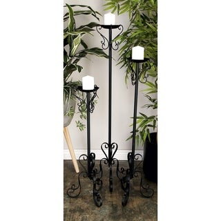 Metal 47-inch, 39-inch, 32-inch Set of 3 Candle Holders