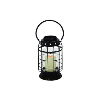 The Gray Barn Jartop Black/ Clear Metal/ Glass 8-inch x 15-inch Lantern - Thumbnail 0