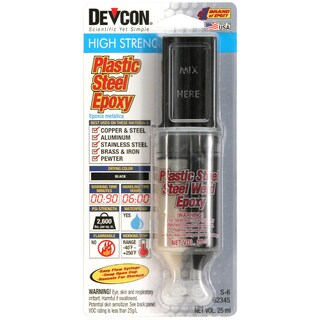 Devcon 62345 S-6 High Strength Plastic Steel Steel Filled Epoxy