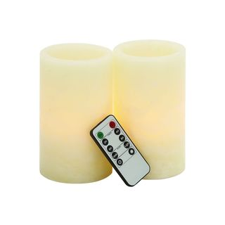 8-inch High x 4-inch Wide Flameless LED Candle with Remote (Set of 2)