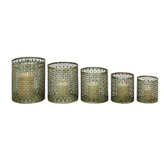 Metal Candle Holders (Set of 5)