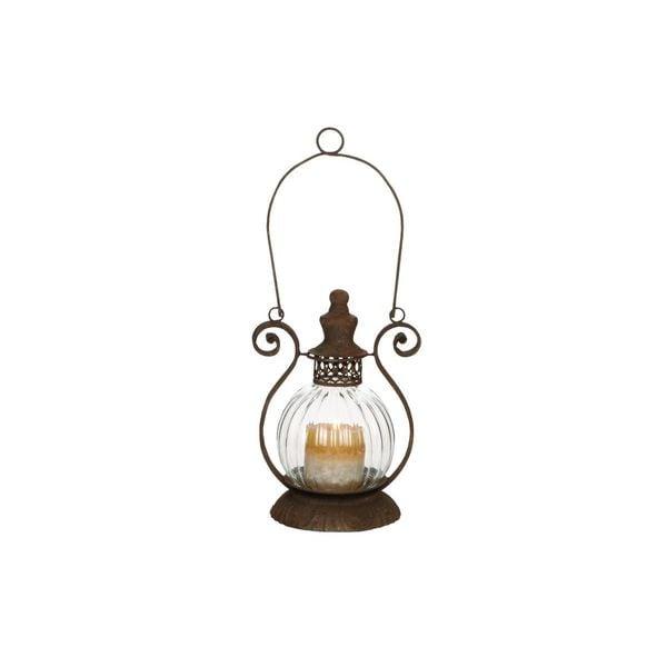 Copper Grove Challis Metal/Glass Candle Lantern