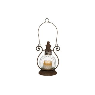 Metal/Glass 11-inch High x 8-inch Wide Candle Lantern