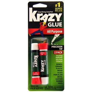 Krazy Glue KG517 2-count Instant Krazy Glue All Purpose Tube