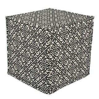 Lace it is Ebony Square Seamed Foam Ottoman