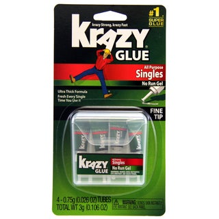 Krazy Glue KG86748SN 4-count 0.75 Grams All Purpose Single Use Tubes