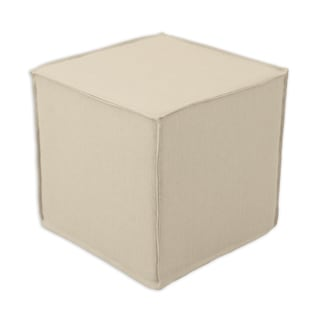 Jefferson Linen Square Seamed Foam Ottoman