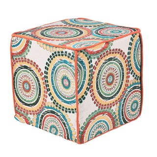 Incogneato Fiesta Square Magnum Corded Zippered Foam Ottoman