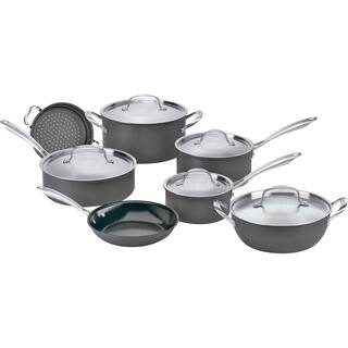 Cuisinart Green Gourmet Prep 12-piece Anodized Cookware (As Is Item)|https://ak1.ostkcdn.com/images/products/12176377/P91002802.jpg?impolicy=medium
