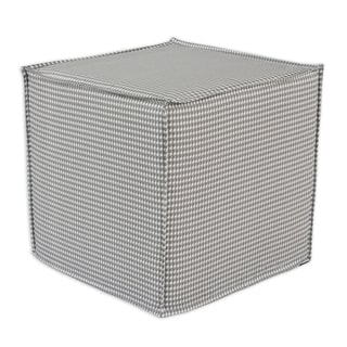 Houndstooth Square Seamed Foam Ottoman