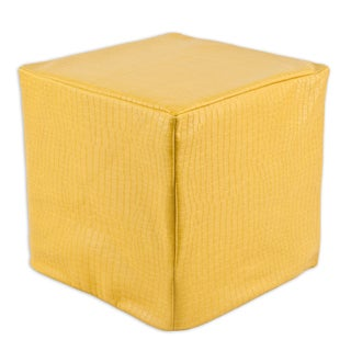 Glade Runner Yellow Square KE Foam Ottoman