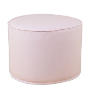 Duck Pink Round Corded Foam Ottoman