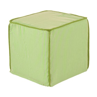 Desoto Chartreuse Square Avocado Corded Zippered Foam Ottoman
