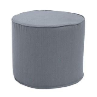 Circa Solid Charcoal Round Corded Foam Ottoman