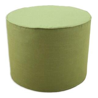 Circa Solid Cactus Round Corded Foam Ottoman