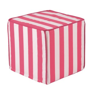 Canopy Candy Pink Square Pink Corded Zippered Foam Ottoman
