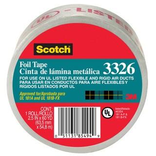 """3M 3326-A 2.5"""" X 60 Yards Scotch Aluminum Foil Tape"""