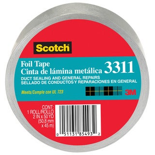 "3M 3311-50A 2"" X 50 Yards Scotch Aluminum Foil Tape"