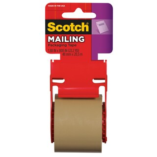 "3M 147 2"" x 800"" Brown Scotch Mailing Tape"