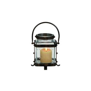 Black/Clear Iron and Glass Lantern