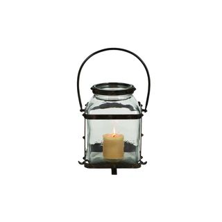 Iron and Glass Jar Candle Lantern