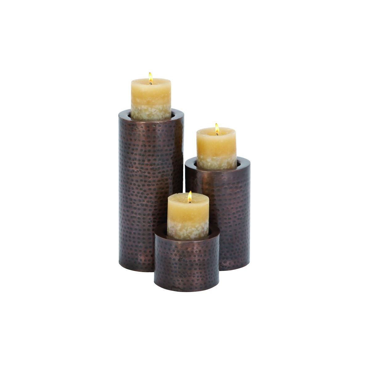 Metal Candle Holder Set of 3 (11 inches x 7inches x 4 inches)