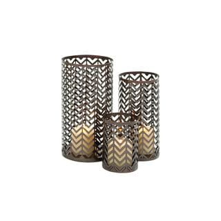 Gold Iron 6/10/12-inches High Candle Holders (Set of 3)