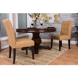 Somette Tan Tufted Dining Chair Set (Set of 2)