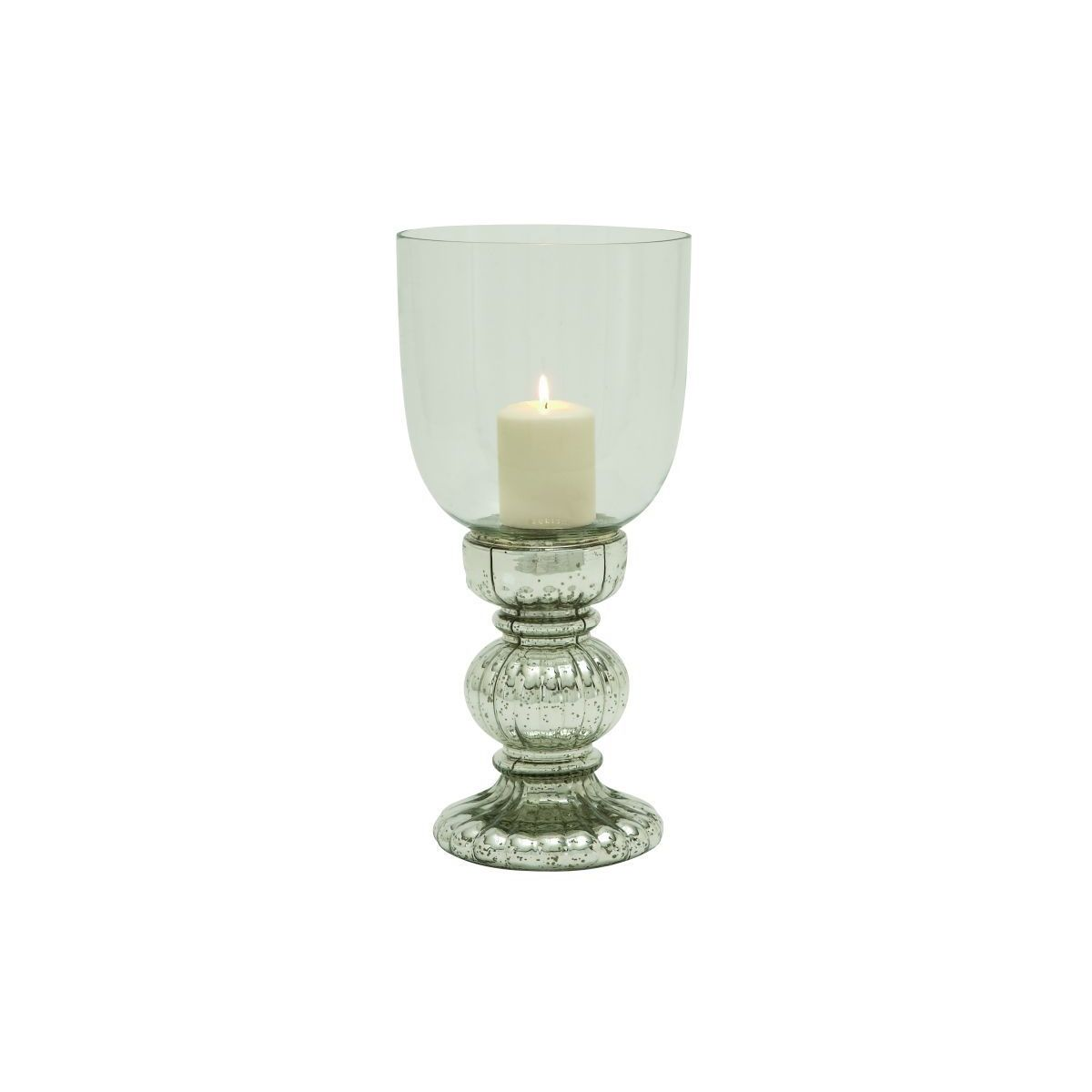 Studio 350 Silver-colored Glass Candle Holders (Glass Cnd...