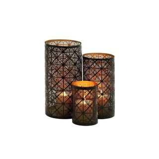 The Curated Nomad Lotta Metal Candle Holder (Set of 3)