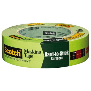 "3M 2060-24A 1"" Scotch Painters' Masking Tape For Hard-To-Stick Surfaces"