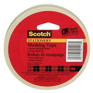 "3M 3436 3/4"" X 180' Tan Scotch Home & Office Masking Tape"