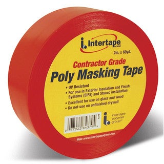 Intertape Polymer Group 4379 RED Red Contractor Grade Poly Masking Tape