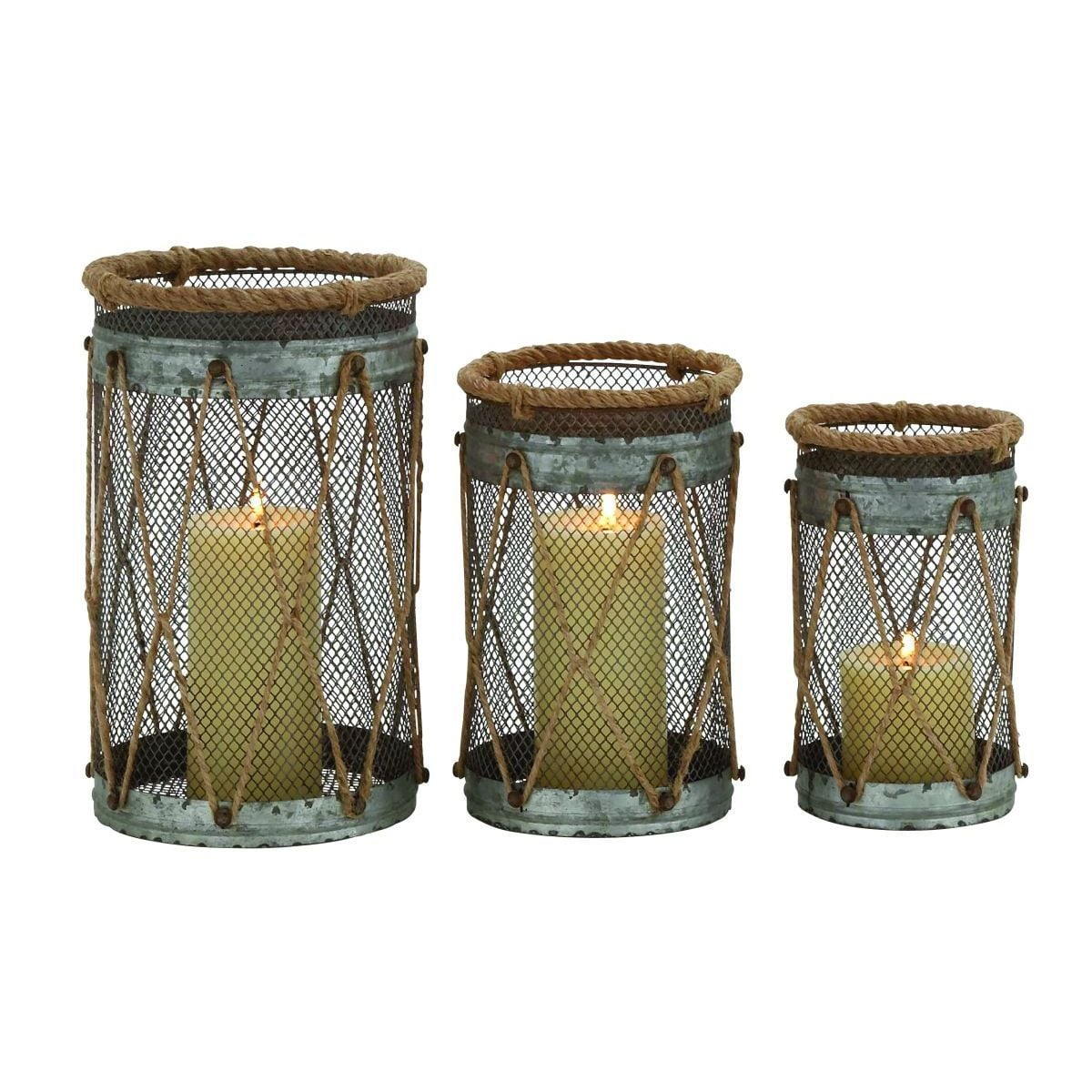 Metal Rope 8-, 9-, 11-inches High Candle Holder