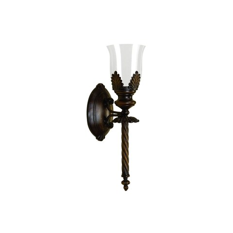 Copper Grove Chatfield Bronze-finish Iron/Glass Wide Candle Sconce