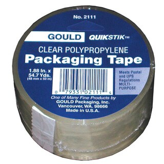 """Lepages 56305 1.88"""" Gould QuikStik Clear Polypropylene Packing Tape"""