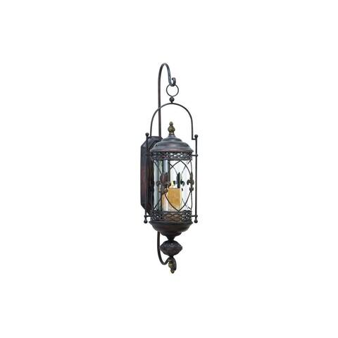 Gracewood Hollow Kane Metal and Glass Candle Sconce
