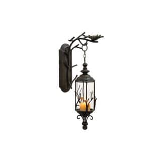 Bronze Finish Metal and Glass 25-inch x 5-inch Hanging Lantern|https://ak1.ostkcdn.com/images/products/12176847/P19027698.jpg?impolicy=medium