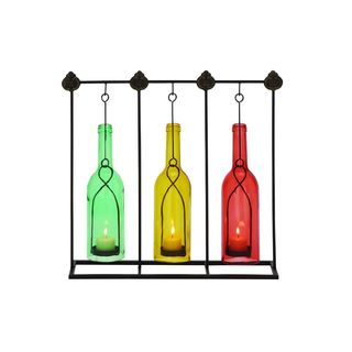 Red/Green/Yellow Iron Candle Holders