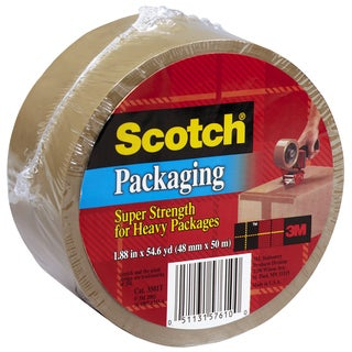 "3M 3850T 1.88"" X 54.6 Yards Tan Scotch Packing Tape"