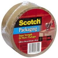 "3M 3850T 1.88"" X 54.6 Yards Tan Scotch Packing Tape"