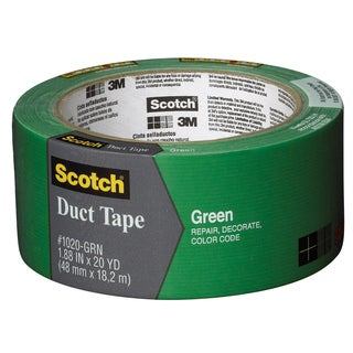"3M 1020-GRN-A 1.88"" X 20 Yards Green Duct Tape"