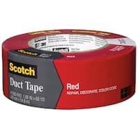 """3M 1060-RED-A 1.88"""" X 60 Yards Red Scotch Duct Tape"""
