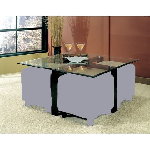 Cermak Contemporary Square Glass Coffee Table