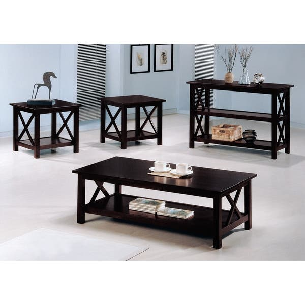 Prime Coaster Company 3 Shelf X Design Merlot Sofa Table 42 X 17 25 X 30 Andrewgaddart Wooden Chair Designs For Living Room Andrewgaddartcom