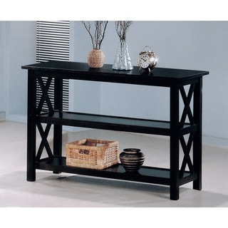 Coaster Company 3 Shelf 'X' Design Cappuccino Sofa Table